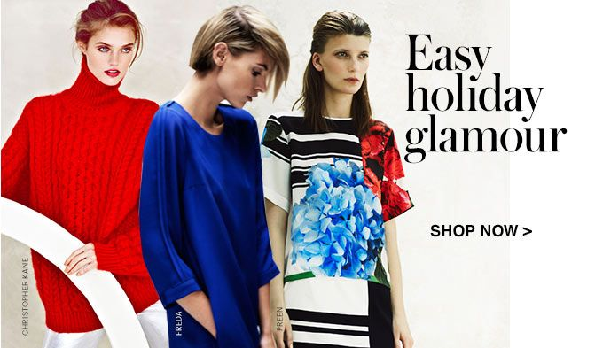 SHOP FOR HOLIDAY GLAMOUR