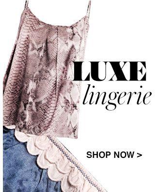 SHOP LUXE LINGERIE