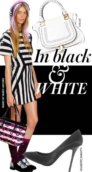 Get ahead of the pack with spring's monochrome trend now!