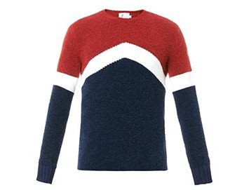 MONCLER GRENOBLE Colour-block crew-neck sweater