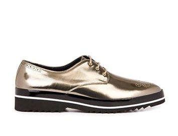 NICHOLAS KIRKWOOD Metallic leather derby shoes