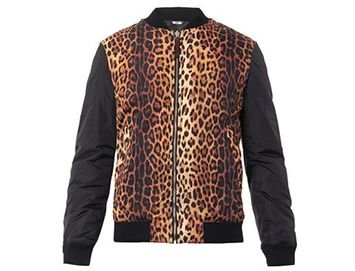 MOSCHINO Animal-print bomber jacket