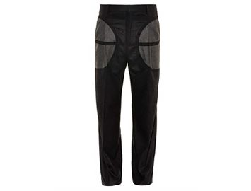 GIVENCHY Wide-leg wool-flannel trousers