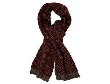 GIEVES & HAWKES Chunky-knit cashmere scarf