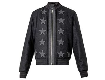 GIVENCHY Star appliqué wool bomber jacket