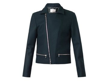 RICHARD NICOLL Melton-wool biker jacket