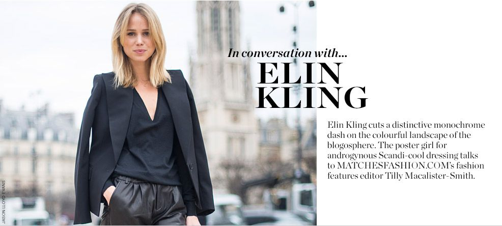 IN CONVERSATION WITH ELIN KLING:
