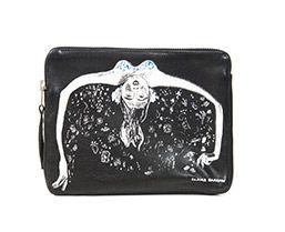 Jewels leather clutch bag