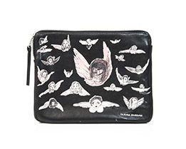 Angels leather clutch bag