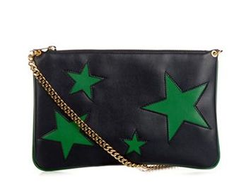 STELLA MCCARTNEY Cavendish faux-leather clutch