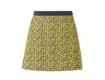 BALENCIAGA Knit-panel mini skirt