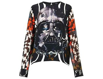 PREEN BY THORNTON BREGAZZI Padme Darth Vader-print top