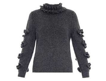 CHRISTOPHER KANE Ruffled cashmere sweater