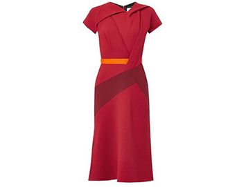 PETER PILOTTO Twist-front wool-crepe dress
