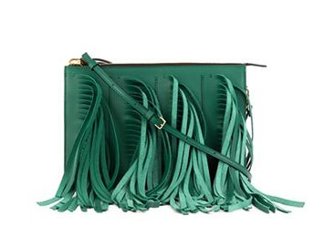MARNI Fringed leather shoulder bag