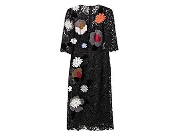DOLCE & GABBANA Embellished macramé-lace dress