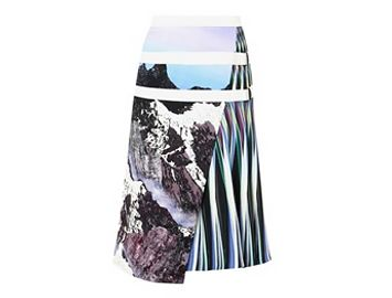 PETER PILOTTO Alps-print A-line skirt
