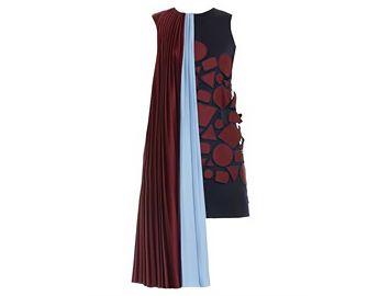 MARY KATRANTZOU Depanda embroidered draped-shoulder dress