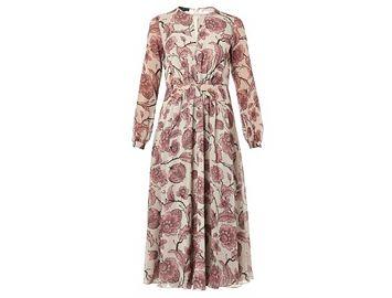 BURBERRY PRORSUM Floral-print silk-georgette dress