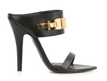 ANTHONY VACCARELLO X VERSUS VERSACE Buckle detail leather mules