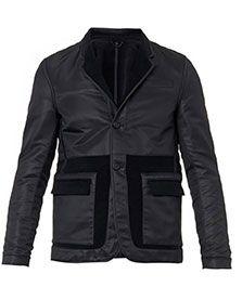 BURBERRY PRORSUM Reversible fleece-cotton blazer