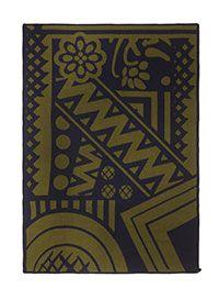 BURBERRY PRORSUM Graphic-motif blanket