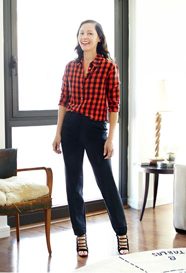 Womens Red Flannel Shirt