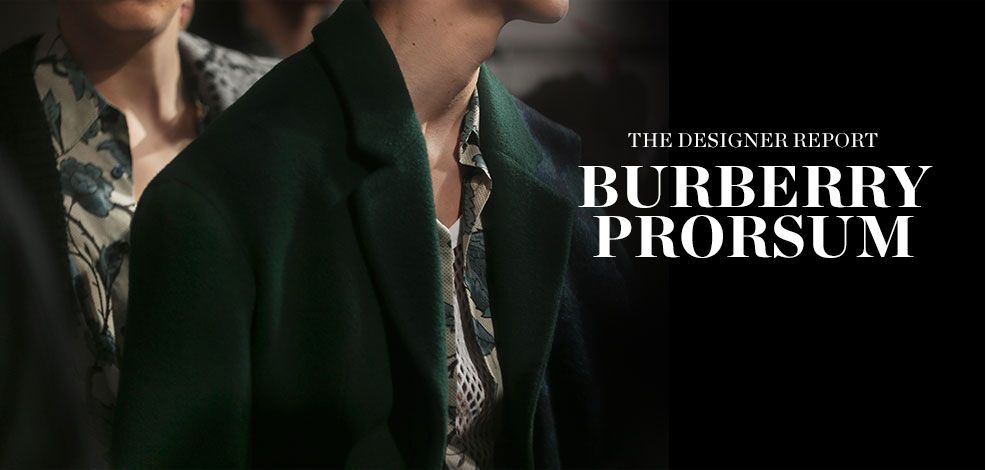THE DESIGNER REPORT: BURBERRY PRORSUM