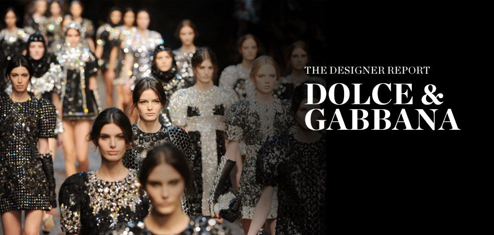 THE DESIGNER REPORT: DOCLE & GABBANA