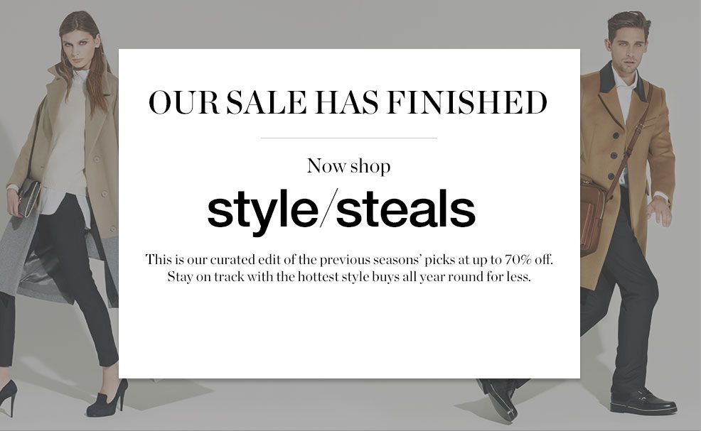 Sale is now closed. Shop Style Steals for up to 70% off