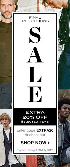 SS17 Sale Extra 20% Mens Sale