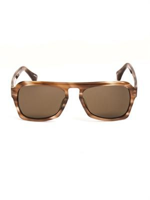 Abstract Horn square sunglasses