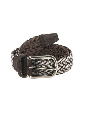 Woven wool-blend belt