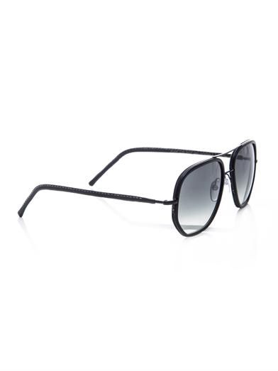 Cutler and Gross Square Aviator-style sunglasses