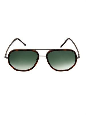 Square Aviator-style sunglasses