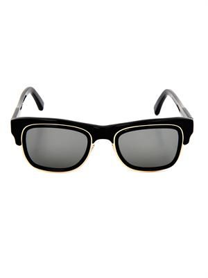 Double-rim Wayfarer-style sunglasses
