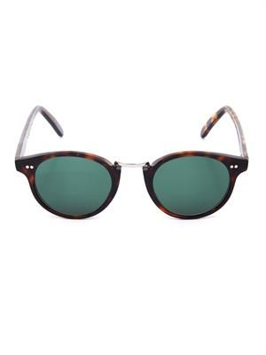 Thin-framed tortoiseshell sunglasses