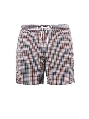 Check-print swim shorts