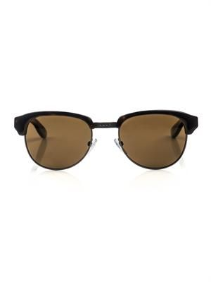 Tortoiseshell and metal combo sunglasses