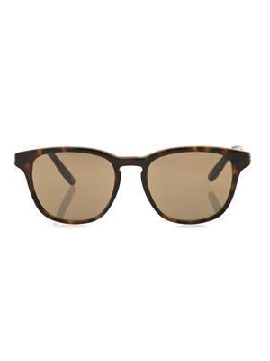 Square-framed tortoiseshell sunglasses