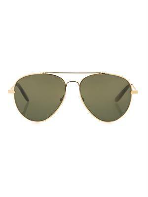 Eteched intrecciato aviator-style sunglasses