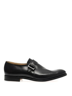 Tokyo leather monk-strap shoes