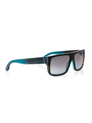 Tortoiseshell and stripe sunglasses