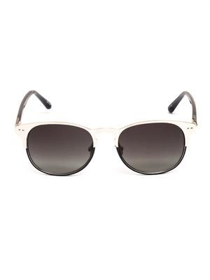 White gold-plated metal sunglasses