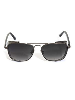 Snake-trimmed square sunglasses