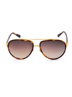 Acetate and metal aviator sunglasses