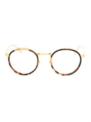 Teashade tortoiseshell optical glasses