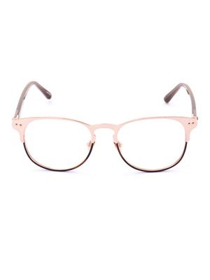 Brow line frame glasses