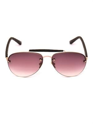 Snakeskin arm aviator sunglasses