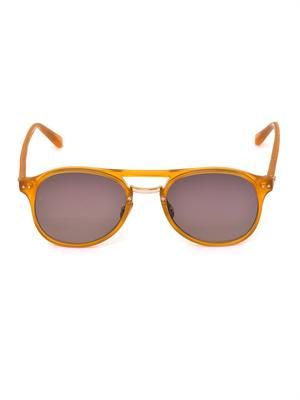 Aviator D-frame sunglasses